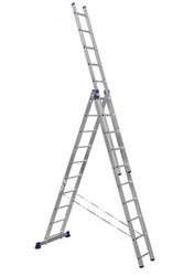 Лестница трёхсекционная алюминиевая 3x10 ступеней 5310 Алюмет